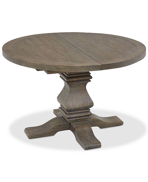 Tristan Round Expandable Dining Table, Created For Macy\'s