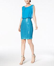 Calvin Klein Sequined Mesh Dress
