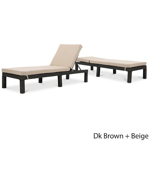 Furniture Logan Outdoor Chaise Lounge (Set Of 2), Quick Ship