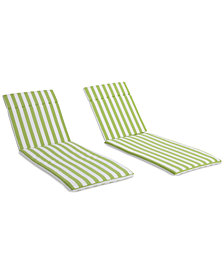 Thome Outdoor Chaise Lounge Cushion (Set Of 2), Quick Ship