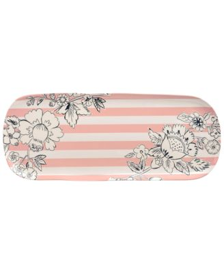 Coral Floral Melamine Serving Tray