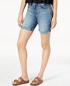 Earl Jeans Embellished Bermuda Shorts