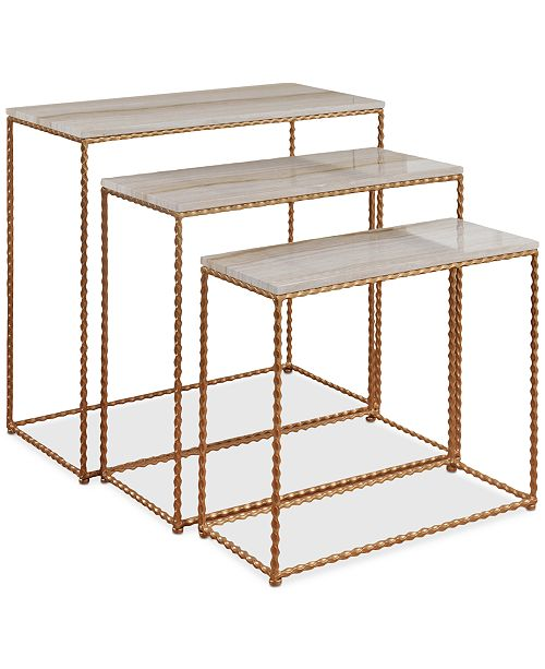 StyleCraft Niera Console Table (Set Of 3), Quick Ship