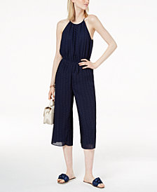 Maison Jules Pleated Cropped Jumpsuit, Created for Macy's