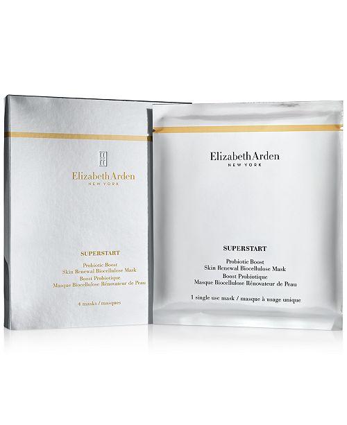 Elizabeth Arden Superstart Probiotic Boost Skin Renewal Biocellulose Mask, 4-Pk.