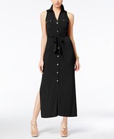 Michael Michael Kors Petite Jersey Maxi Shirtdress