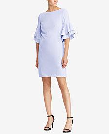 Lauren Ralph Lauren Ruffled Crepe Dress