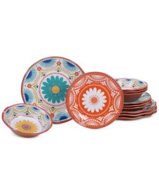Vera Cruz Melamine 12 Piece Dinnerware Set