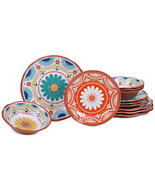 Certified International Vera Cruz 12-Pc. Melamine Dinnerware Set