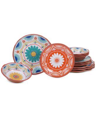 Certified International Vera Cruz 12-Pc. Melamine Dinnerware Set  sc 1 st  Macy\u0027s & Melamine Dinnerware - Macy\u0027s