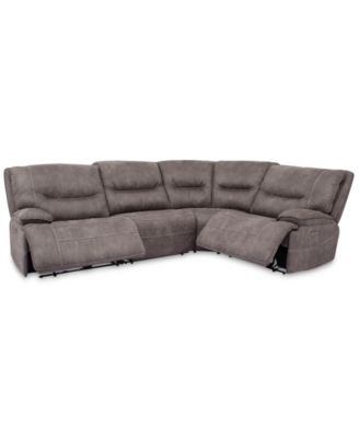 Felyx 4-Pc. Fabric Sectional Sofa With 2 Power Recliners, Power Headrests And USB Power Outlet