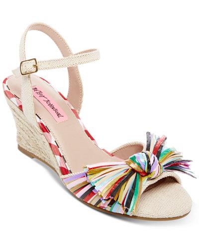 Betsey Johnson Lizzie Wedge Sandals