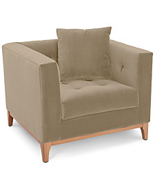 "Martha Stewart Collection Brookline 38"" Armchair, Created for Macy's"