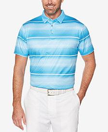 PGA TOUR Men's Heathered Stripe Polo