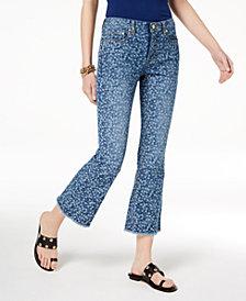 MICHAEL Michael Kors Printed Flare-Leg Jeans, Regular & Petite
