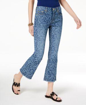 Michael Michael Kors Printed Flare-Leg Jeans, Regular & Petite 6070061
