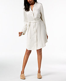 Eileen Fisher Silk Belted Shirtdress