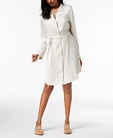 Eileen Fisher Silk Belted Shirtdress