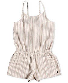 Roxy Striped Romper, Big Girls