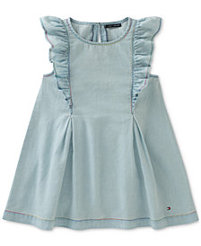 Tommy Hilfiger Ruffle Denim Dress, Toddler Girls