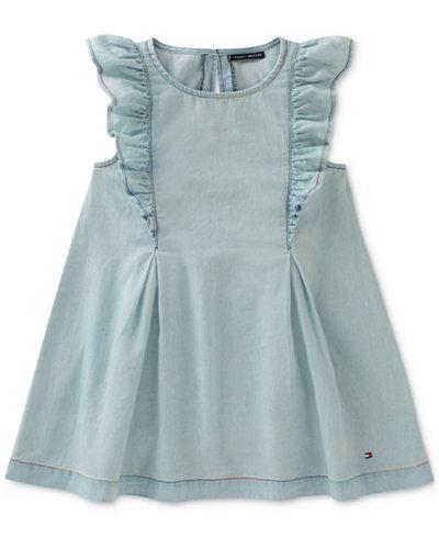 Tommy Hilfiger Ruffle Denim Dress, Toddler Girls