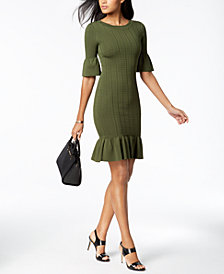 MICHAEL Michael Kors Textured Flared Sweater Dress