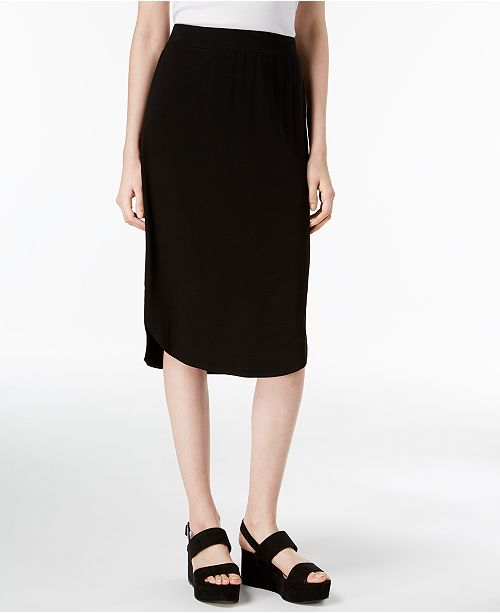 Stretch Jersey Pull-On Skirt