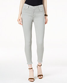 7 For All Mankind Ankle Skinny with Raw-Hem Jeans