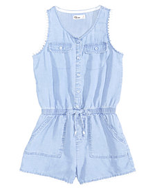 Epic Threads Chambray Romper, Big Girls, Created for Macy's