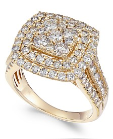 Diamond Multi-Level Composite Engagement Ring (2 ct. t.w.)