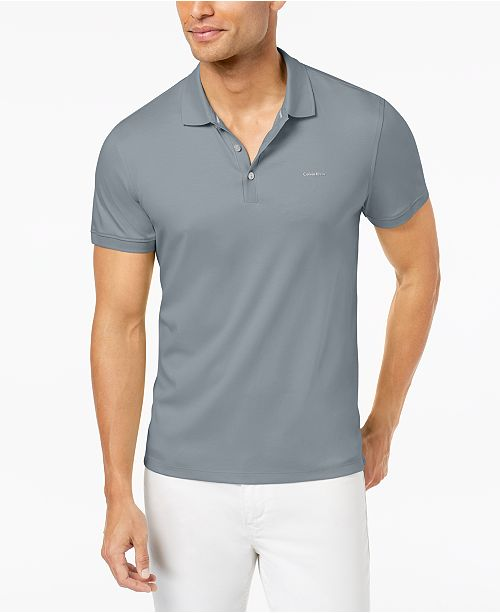b7f9988b0c Calvin Klein Men's Liquid Touch Interlock Polo Shirt & Reviews ...