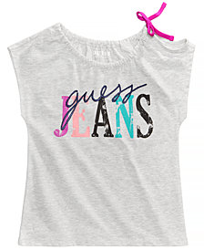 GUESS Graphic-Print Shoulder-Tie Shirt, Big Girls