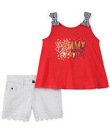 Tommy Hilfiger 2-Pc. Tank Top & Denim Shorts Set, Little Girls