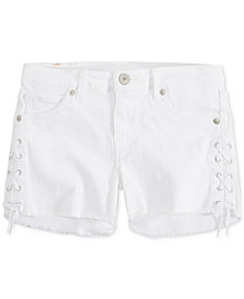 Levi's® Lace-Up Shorty Short, Little Girls