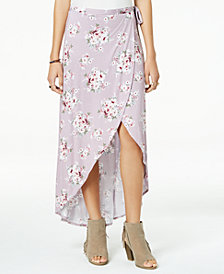 Ultra Flirt by Ikeddi Juniors' High-Low Maxi Skirt