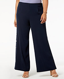 Love Scarlett Plus Size Pull-On Sailor Pants