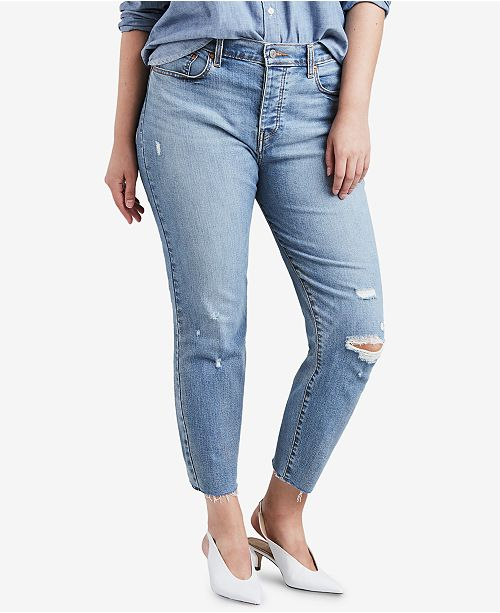 Levi's Plus Size High-Waist Ripped Skinny Wedgie Jeans