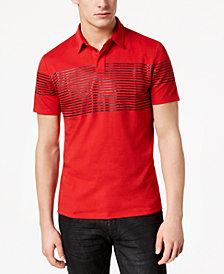 I.N.C. Men's Gel-Striped Polo, Created for Macy's