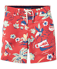 Polo Ralph Lauren Printed Swim Trunks, Little Boys
