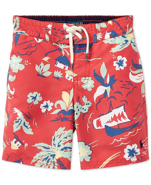 52d1a1e4609dc Polo Ralph Lauren Printed Swim Trunks, Little Boys & Reviews ...