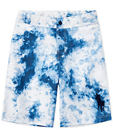 Ralph Lauren Tie-Dye Swim Trunks, Big Boys