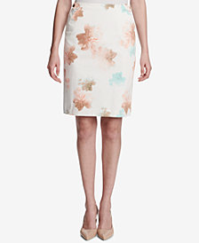 Calvin Klein Printed Pencil Skirt