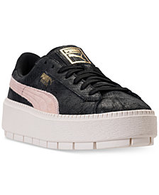 Puma Women's Suede Platform Trace Shimmer Casual Sneakers from Finish Line