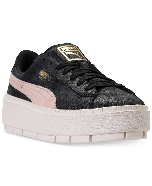 ... Puma Women s Suede Platform Trace Shimmer Casual Sneakers from Finish  ... 51cc3ae9f
