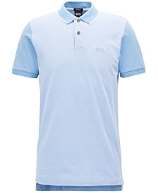 BOSS Men's Regular/Classic-Fit Trimmed Pima Cotton Polo