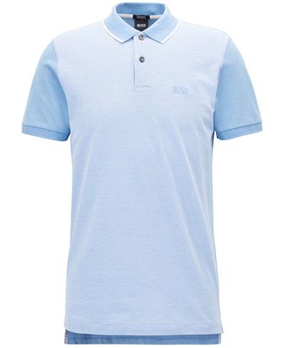 BOSS Men's Regular/Classic-Fit Trimmed Pima Cotton Polo