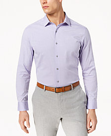 Alfani Men's Slim-Fit Stretch Oval Dobby Dress Shirt, Created for Macy's