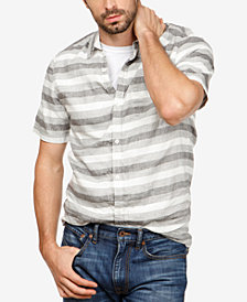 Lucky Brand Men's Laguna Linen Striped Shirt