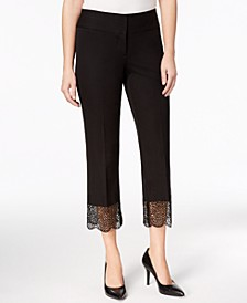 Lace-Hem Tummy-Control Ankle Pants, Created for Macy's