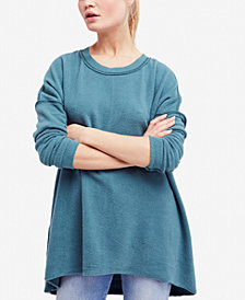 Free People Washed Ashore Oversized Fleece Sweatshirt